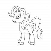 stock photo of pony  - Vector illustration of cute horse princess - JPG