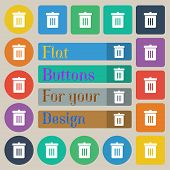 stock photo of reduce  - Recycle bin Reuse or reduce icon sign - JPG