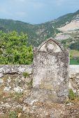 image of graveyard  - Old graveyard in France - JPG