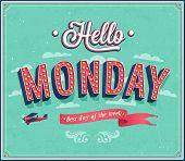 picture of monday  - Hello Monday creative typographic design - JPG
