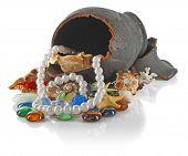 Broken Amphora With Pearls