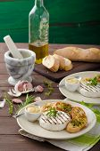 pic of baguette  - Grilled camembert with Dijon mustard and herbs baguettes - JPG