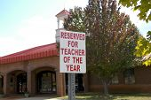 Sign  Teacher Of The Year