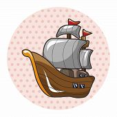 picture of pirate ship  - Pirate Ship Theme Elements - JPG