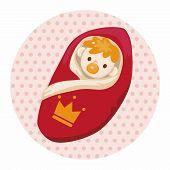 pic of prince charming  - Royal Theme Prince Baby Elements Vector - JPG