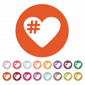 pic of hashtag  - The hash love icon - JPG