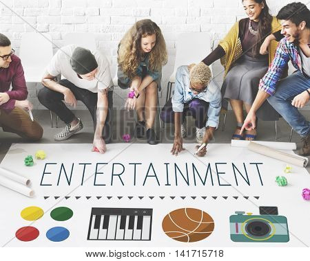 Entertainment Performance Please Thinking Concept