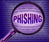 Computer Phishing Means Magnifier Magnifying And Internet poster