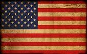 vintage flag of america