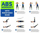Aerobic Icons. Abs Workout poster