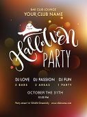 Halloween Party Lettering Typography poster