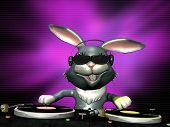 E-Bunny drehen einige Vinyl