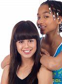 2 Cute Girls Posing poster