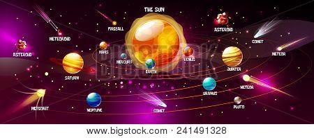 Solar System Vector Illustration Of