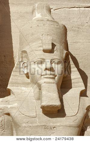 Постер, плакат: Рамсес портрет на Храмы Абу Симбел, холст на подрамнике