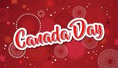 Happy Canada Day Poster. 1st July. Vector Illustration Greeting Card. Canada Maple Leaves On White B poster