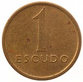 escudo coin isolated on white background