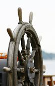 foto of rudder  - old wooden ship rudder - JPG