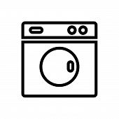 Washing Machine Vector Icon On White Background. Washing Machine Modern Icon For Graphic And Web Des poster