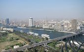 Cairo Aerial View With Nile River