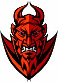Demon Devil Mascot Head