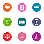 Technological Progressiveness Icons Set. Flat Set Of 9 Technological Progressiveness Vector Icons Fo poster
