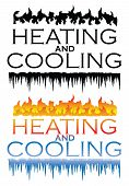 Heating And Cooling Designs Is An Illustration That Can Be Used For Heating And Cooling Or Hvac Comp poster