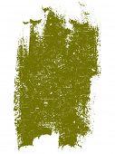 Grunge elements - Dark Yellow Grunge Square -  Highly Detailed vector grunge element