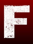 Fat Grunged Letters - F (Highly detailed grunge letter)