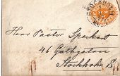 Sverige- Circa 1897:A  Cover Printed In Usa Shows Image Of Crown And Horn, Circa 1897.