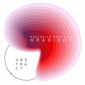 Explosive Gradient Banner Composition, Colorful Topography Blend Shapes, Eps10 Vector. poster