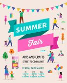 Summer Fest, Food Street Fair, Family Festival Poster And Banner Colorful Design poster