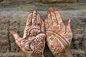 Mehandi Painted On Palms