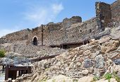 stock photo of calatabiano  - Arab Byzantine style ancient castello Calatabiano Sicily - JPG