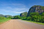 The valley of Vinales in Cuba. This is an UNESCO World Heritage site