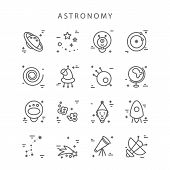 Space Icons Made In Modern Line Style Vector. Cosmos Icons Isolated On Background And Easy To Use. C poster