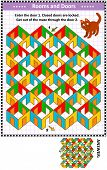 Rooms And Doors Colorful Maze Game: Help The Red Cat. Enter The Door 1. Get Out Of The Maze Through  poster