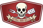 Natural Born parrillero barbacoa Logo