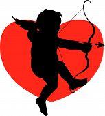 Silhouette Cupid