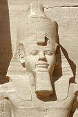Постер, плакат: Рамсес портрет на Храмы Абу Симбел