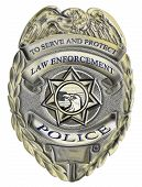 stock photo of police  - illustration of a sheriff law enforcement police badge - JPG