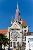 architecture and buildings in lausanne,to the lake geneva