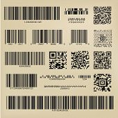 Set Or 3d Codes. Qr Codes And Barcodes. Digital Payment And Information Data Labels poster
