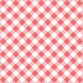 Seamless Checkered Seamless Pattern. Red And White Tablecloth Background. Picnic Gingham Cloth Templ poster