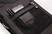 Men's Handbag, Pen And Smartphone