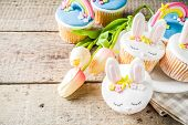 Cute Homemade Easter Cupcakes poster