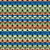 Trendy Horizontal Stripes Knitted Texture Geometric Seamless Pattern. Blanket Knitwear Fabric Print. poster