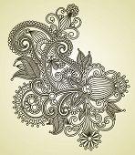 Line Art Ornate Flower Design