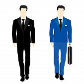 Silhouettes Of The People In Business Suit
