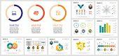 Creative Infochart Template Set For Work Process Design, Management Report, Presentation, Web Page.  poster